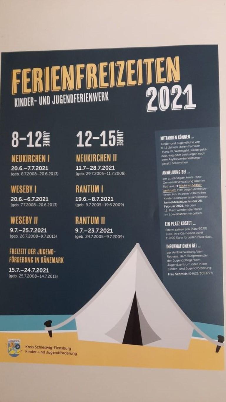 Ferienfreizeiten 2021